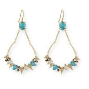 Alexis Bittar Pave Spine Crystal Drop Earrings NWT